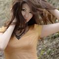 写真: 岡田智子髪乱れアップ2L