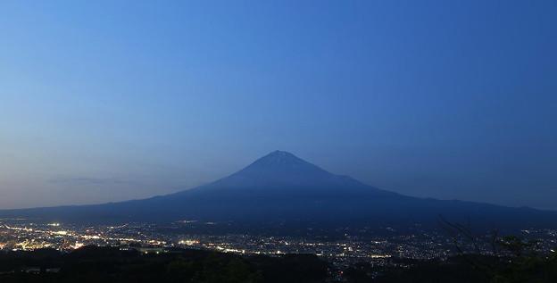 写真: 夜景・富士山と富士宮市