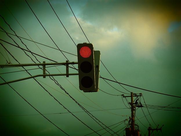 近所に現れたフラット型LED信号機