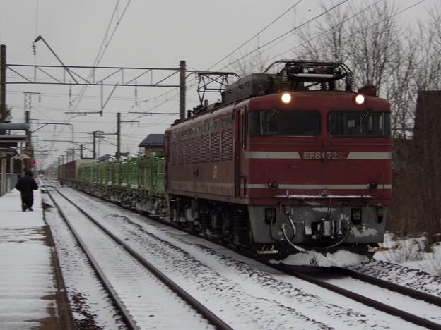 EF81-725牽引 1658レ