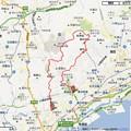 2013初日の出ハイキングのコースマップ