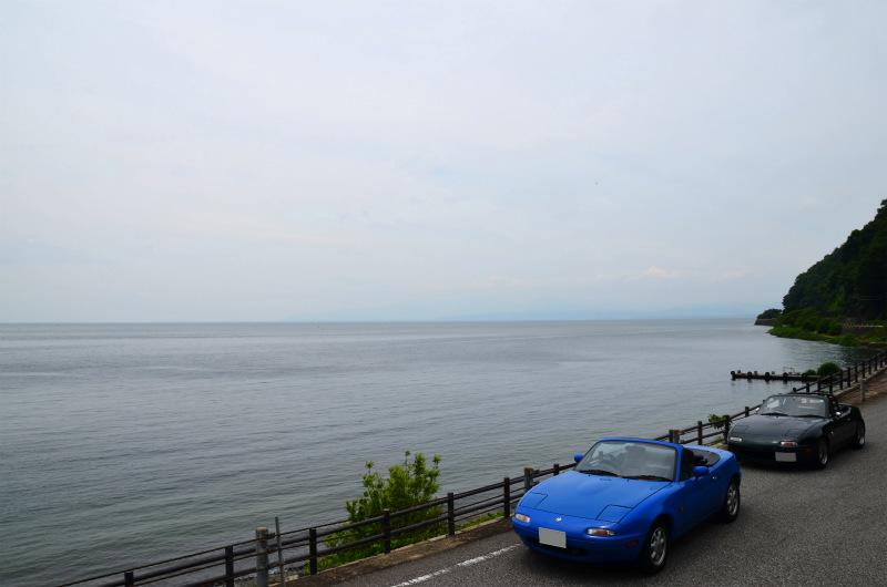 琵琶湖の横に並ぶVRリミテッドとマリナーブルー