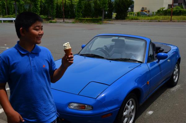 アイスを食べてリフレッシュして大阪へ帰る
