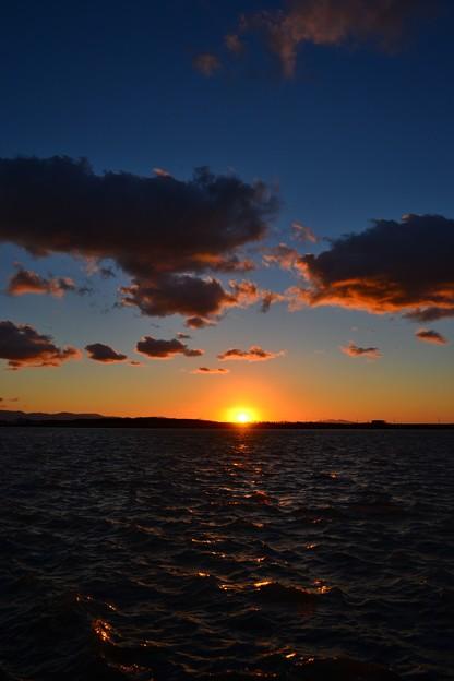 石狩川の夕陽