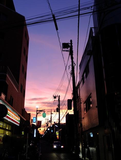 夕焼け 桜上水 2012/08/29