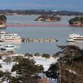 Photos: 26.2.12残雪の松島海岸