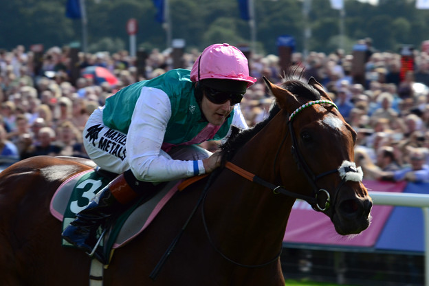 22.Frankel & Tom Queally on the way to 13th successive win -Juddmonte International Stakes-