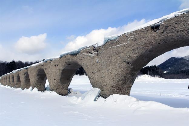真冬のタウシュベツ川橋梁